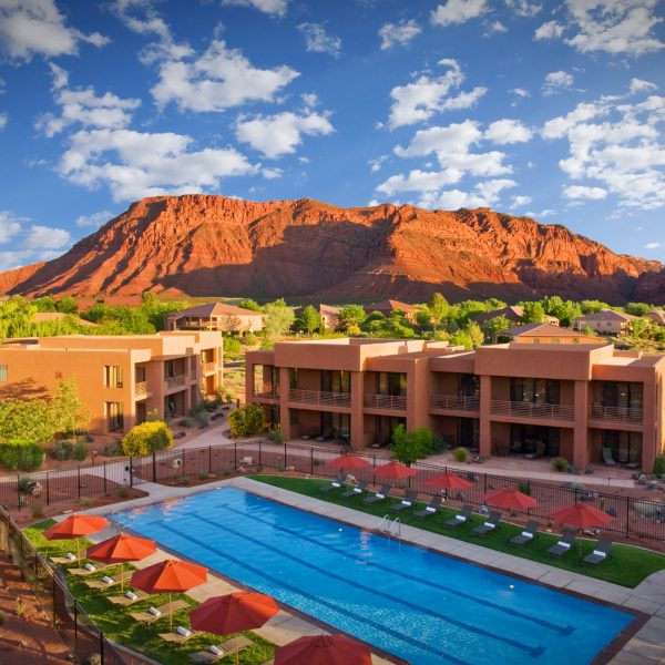 Various photos, interior and exteriors, of scenes at the Red Mountain Spa in St. George Utah